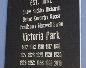 Collingwood Magpies History Sign Aussie Rules Footy - Football Tickets Jerseys Memorabilia Merchandise