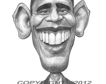 Barack Obama Poster Caricature Art Print Limited Edition