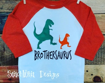 Brothersaurus Big Brother/Little Brother Dinosaur tshirt, Reglan, or baby one piece