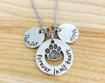 pet memorial jewelry, Forever in my heart, pet loss jewelry, personalized pet loss bracelet, hand stamped bangle bracelet, jewelry
