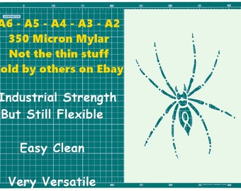 Tattoo style Spider STENCIL Tattoo StyleTough Reusable 350 Micron Material Various Sizes  #T022