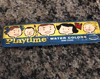 "Vintage Water Color Paints - ""Playtime"" by Binney and Smith the Crayola Makers"