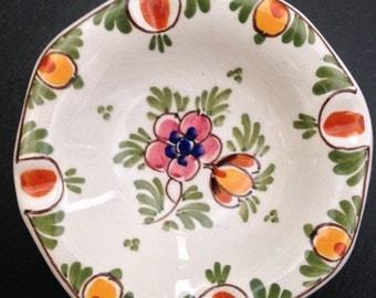 Beautiful Deltware Glazed Pottery Plate