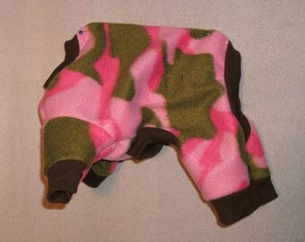 xsmall pink camo jammies