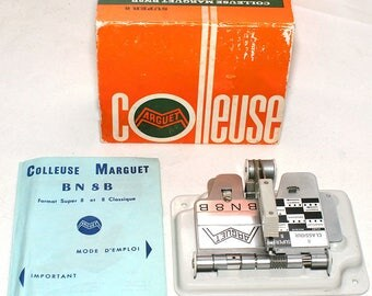 Marguet BN-8B Colleuse 8 and Super 8 Film Splicer w/Instr. in French & original Box