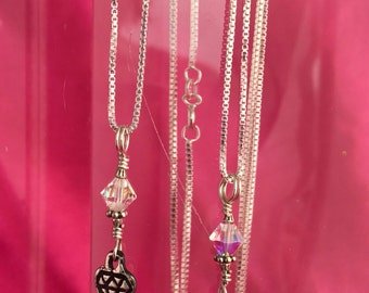"Treasure necklace, on 30"" chain"