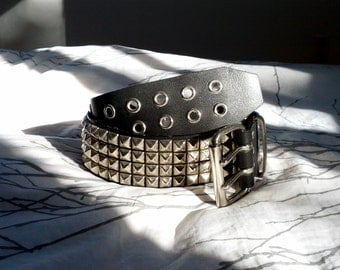 4 Row Pyramid Studded Belt