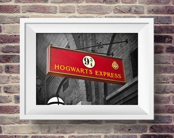 Hogwarts Platform 9/34 -- PRINTABLE Photography / Universal Studios / Harry Potter / Wizarding World / Instant Download