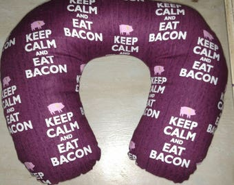 Keep Calm & Eat Bacon Neck Pillow