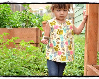 Reversible Pinafore/ Tunic/ Baby Pinafore/ Toddler Pinafore/ Girls Pinafore/ Baby Tunic/ Girls Tunic/ Spring/ Summer Outfit.