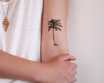 palm tree temporary tattoo / palm tattoo / beach tattoo / holiday tattoo / boho tattoo / boho temporary tattoo / boho gift / festival