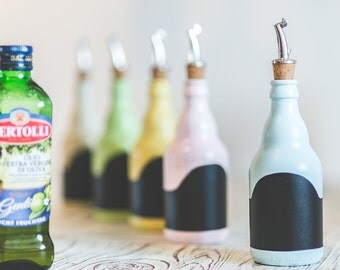 Oil bottles in the vintage style / / oil bottle