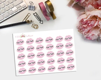 Lips Date Night Planner Stickers