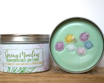 Spring Meadow Natural Soy Wax Candle