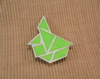 Brooch, tangram, symmetrically (764)
