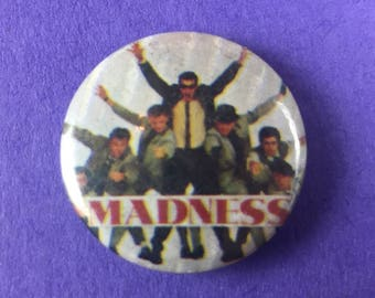 Madness Ska Band Original 1980s NOS Pin