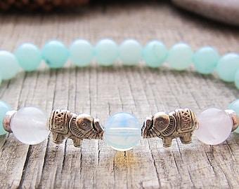 Sister gifts birthday gift Lucky elephant bracelet String Bracelet Bead Bracelet Animal Jewelry Elephant charm bracelet Fertility Bracelet