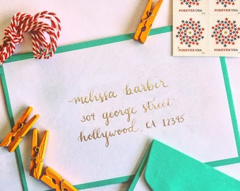 Calligraphy Hand-lettered Envelopes