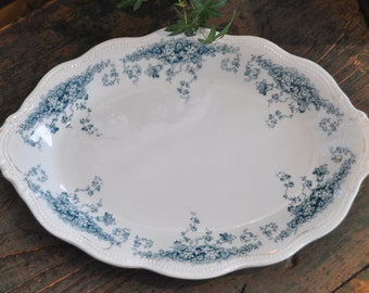 Forget me Not Vintage platter - Pretty blue transferware - Made in England
