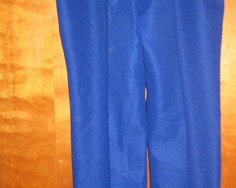 Dark blue vintage pants. Montgomery Ward. Machine wash. 1970's