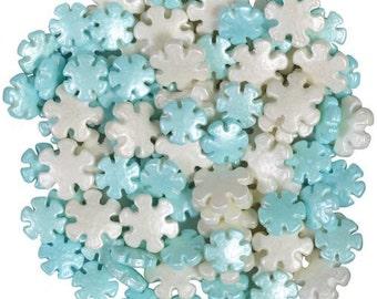 Pearlized Snowflakes Sprinkles -  Wilton Edible Sprinkles - Christmas Sprinkles, Winter Sprinkles, Snowflake Sprinkles - Cupcake Sprinkles