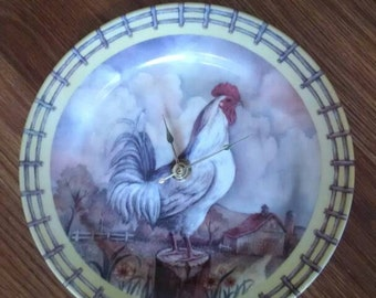 Royal Rooster Plate Clock -