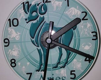 Zodiac Horoscope CD Wall Clock