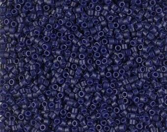 11/0 Duracoat Matte Opaque Dyed Cobalt Miyuki Delica-2144, DB2144, Delica 2144 Matte Opaque Cobalt, 6 Grams
