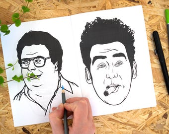 Seinfeld Colouring Book, colouring pages, george costanza, larry david, adult colouring book, coloring book