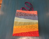 Rainbow Tote Bag with bla...