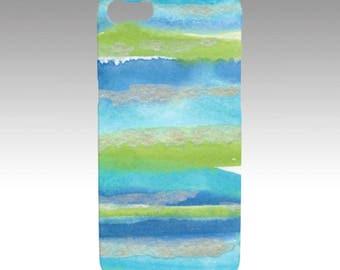 Aqua Stripe Phone/Tech case