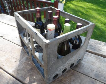 Galvanised Heavy Weight Beer Bottle Crate Ind Coope Burton on Trent 1959 - Wine Rack Bottle Storage Great conditon