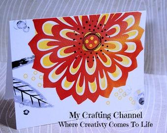 Watercolor Card 17-Printed Watercolor-Card--Greeting Card-Handmade Card-Watercolor-Blank Card