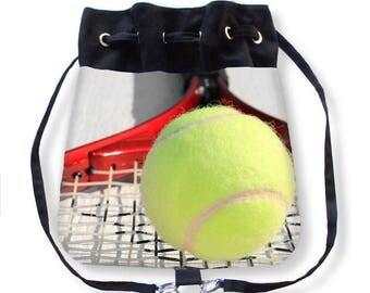 Sports Tote Bag-Tennis Tote Bag-Tennis Backpack-Canvas Tote Bag-Adjustable Tote Bag-Shoulder Tote-Cinch Bag-Cross Body Bag-Book Bag