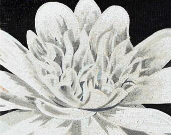 The White Lotus Flower-Mosaic Art
