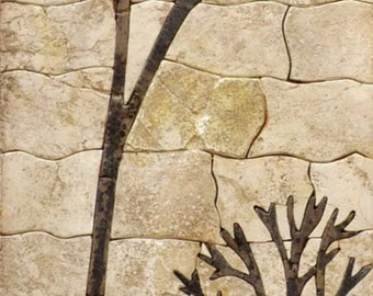 Abandoned Church Stone Mosaic