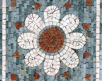 Abstract Mosaic Artwork- Daisy Flower
