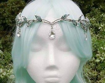 Silver circlet, mermaid crown, elvish circlet, fairy headpiece, fairy circlet, mermaid circlet, mermaid crown, circlet, costume headpiece