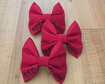 Military RED Friday Bow (Remember Everyone Deployed)