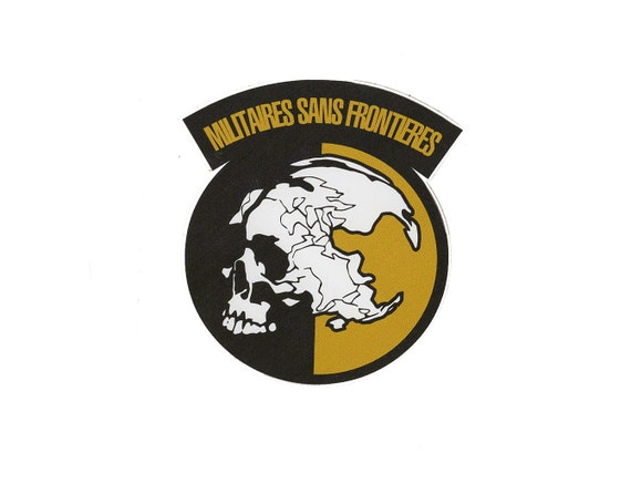 metal gear solid decal msf militaires sans frontiers big boss
