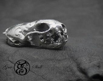 Silver Weasel Skull