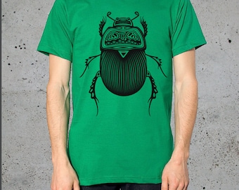 Mens Graphic Tee,(TRIBAL Insect BEETLE Shirt)Boyfriend Gift,American Apparel Tshirt,Gift For Him,Birthday Gift him,Bugs-Clothing-,instagram