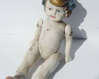 Porcelain Doll / Made in Japan / Full Porcelain Body / Moveable Arms and Legs