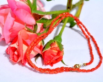 Beautifull italian  red coral necklace