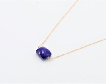 Lapis Lazuli Choker Necklace, Lapis Necklace, Bridal Jewelry, Lapis Choker, Dainty Necklace, Minimalist Necklace, Birthstone Necklace