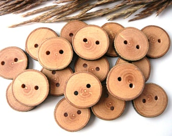 Unique Wooden buttons set of 9, natural rustic wood buttons, apple tree button, craft supplies, accessories #8
