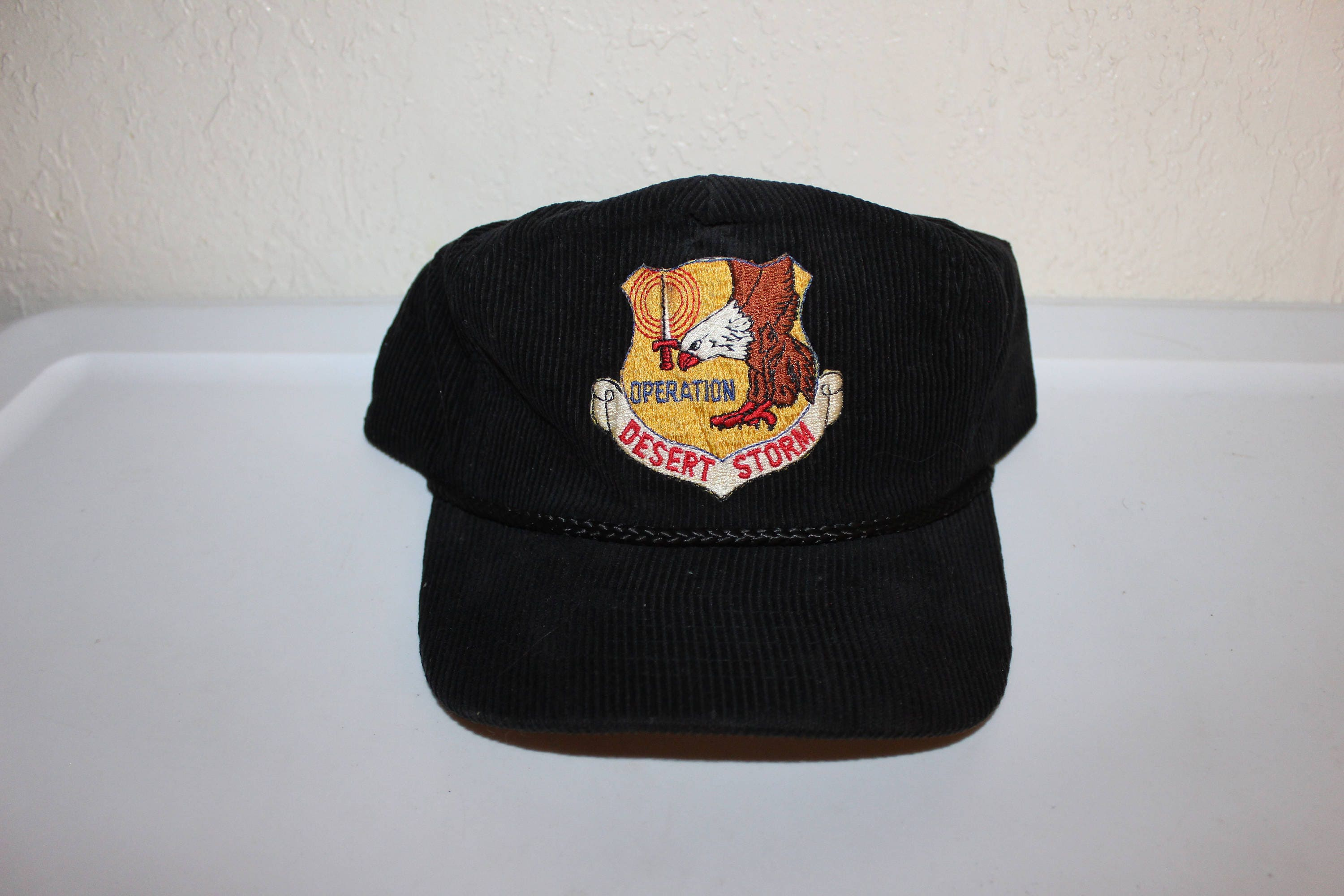 2baae62d62e Vintage 80 s Operation Desert Storm Corduroy Zipper Hat by AmaPro
