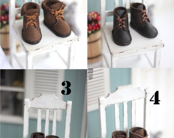 Littlefee boots - BROWN colours (leather shoes BJD 1\6 doll  yosd)