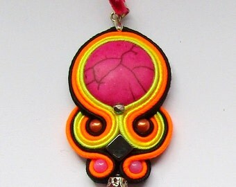 Pendant soutache Colorful