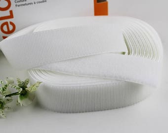 "White Sew On Velcro NEW Roll 5 yards x 1 1/2"" (Listing is BOTH Hook and Loop sides)"